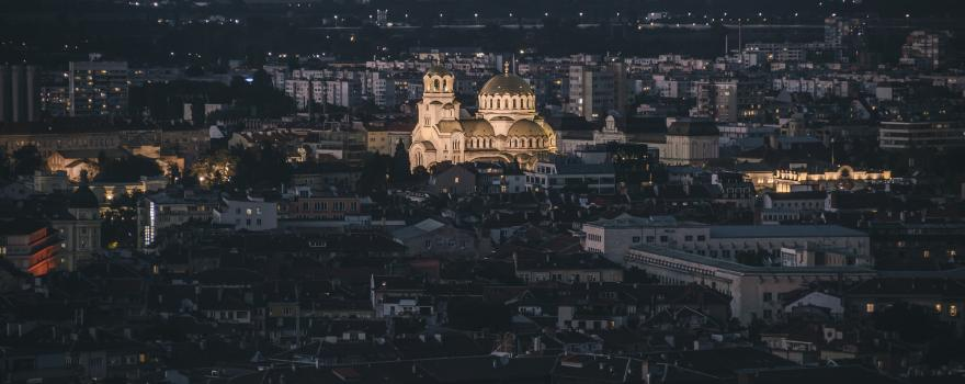 Sofia at night: SEMIC 2018